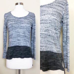 ANTHROPOLOGIE Dolan Gray Color Block Knit Top M